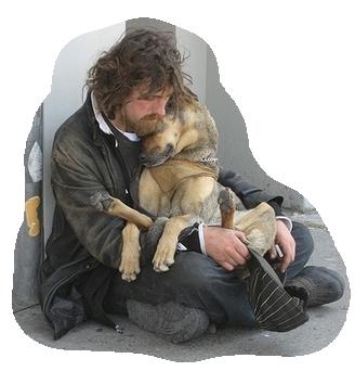 tube homme avec son chien