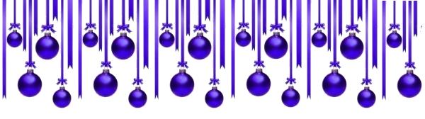 déco boules de noel violettes