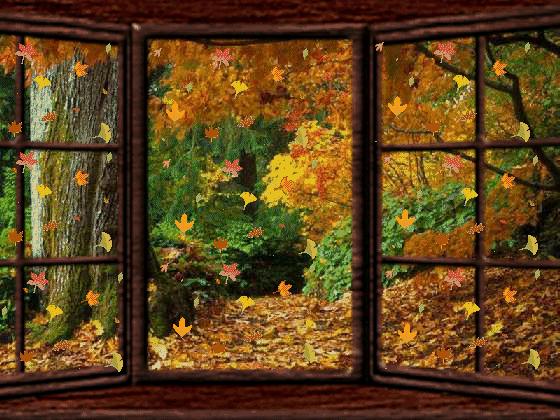 Fen tre ouverte sur l 39 automne for Fenetre ouverte sur paysage